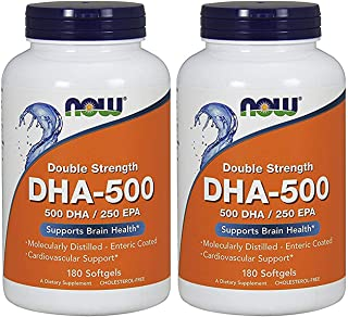 Now Foods DHA-500, 180 Softgels - 2 Pack
