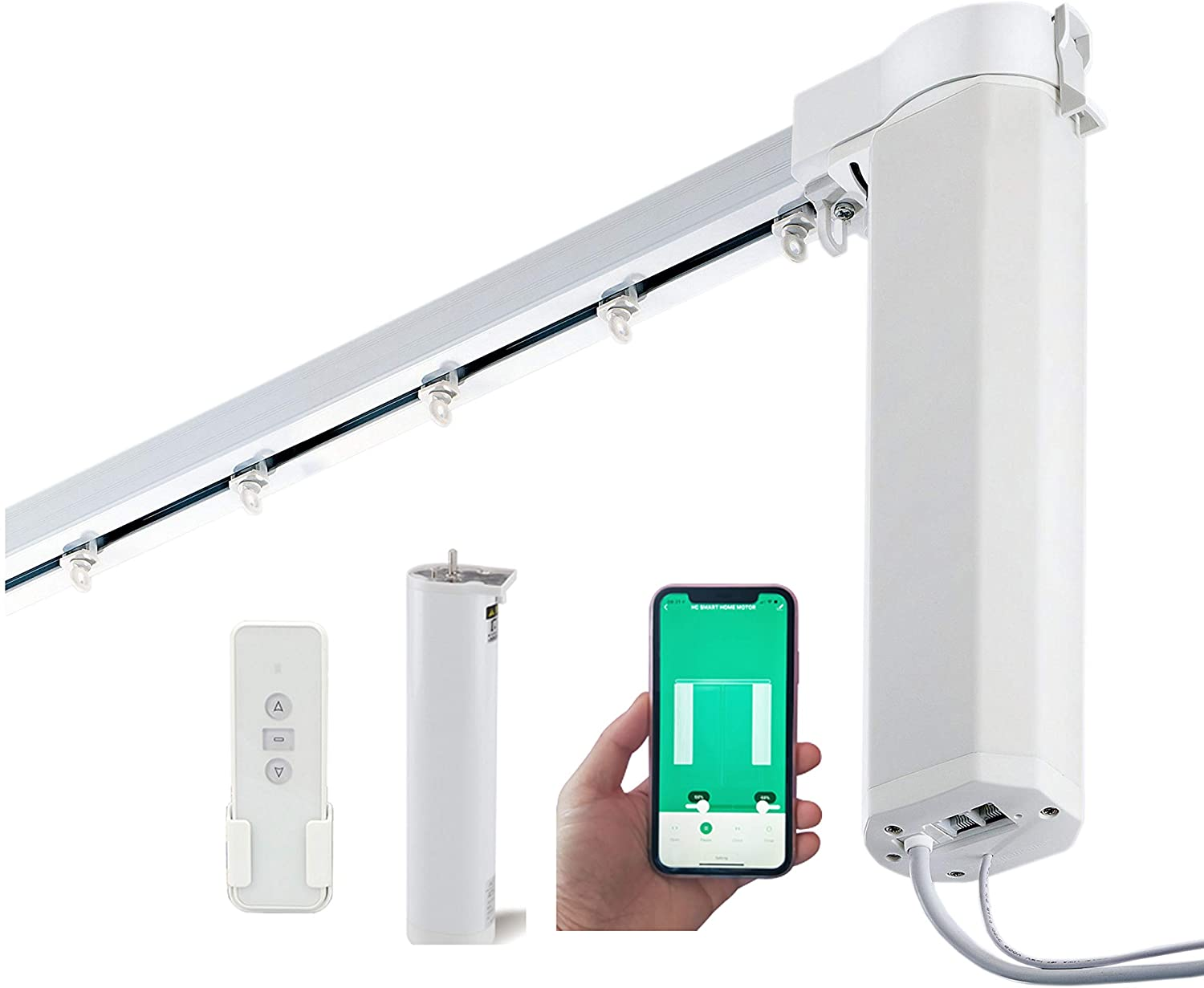 Single 2 channel transmitter Smart Curtain Rods UL certificated ...