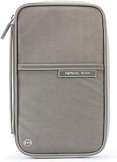 P.travel RFID Blocking Passport Holder Travel Wallet Zipper Card Organizer Safe Purse PT-1723 (Grey)
