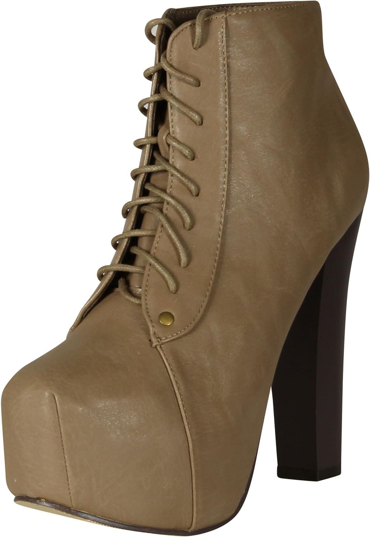 Glaze Women Victoria-11 Tall Heel Bootie