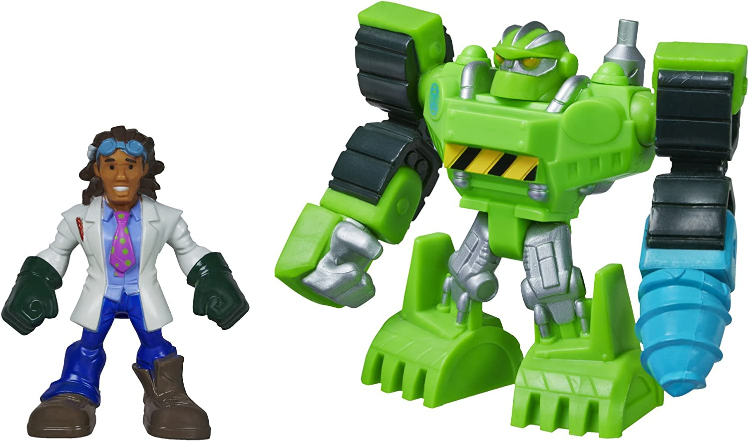 Playskool Heroes Transformers Rescue Bots Boulder the ConstructionBot and Doc Greene Figure Pack