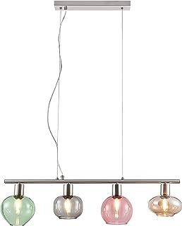 di/ámetro de 60 cm 4 bombillas L/ámpara de techo de cromo y cristal altura de 15 cm Nino Leuchten 63180406