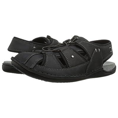 Hush Puppies Bergen Grady (Black Waxy Leather) Men