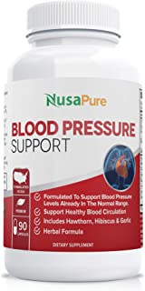 Blood Pressure Supplement (Non-GMO & Gluten Free) 90 CAPS : Blood Pressure Support with Hawthorn Berry and Uva Ursi: Herbs...
