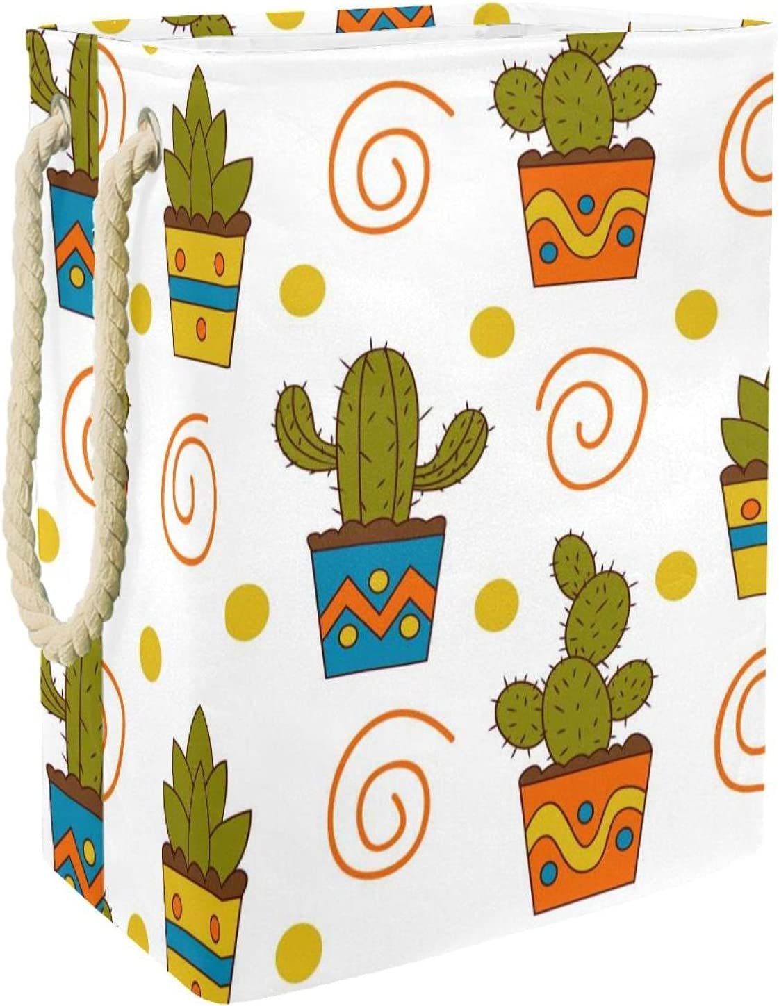 MAPOLO Laundry Popular shop is the lowest price challenge Hamper Cactus Simple Arlington Mall Foldable Linen Laund Pattern