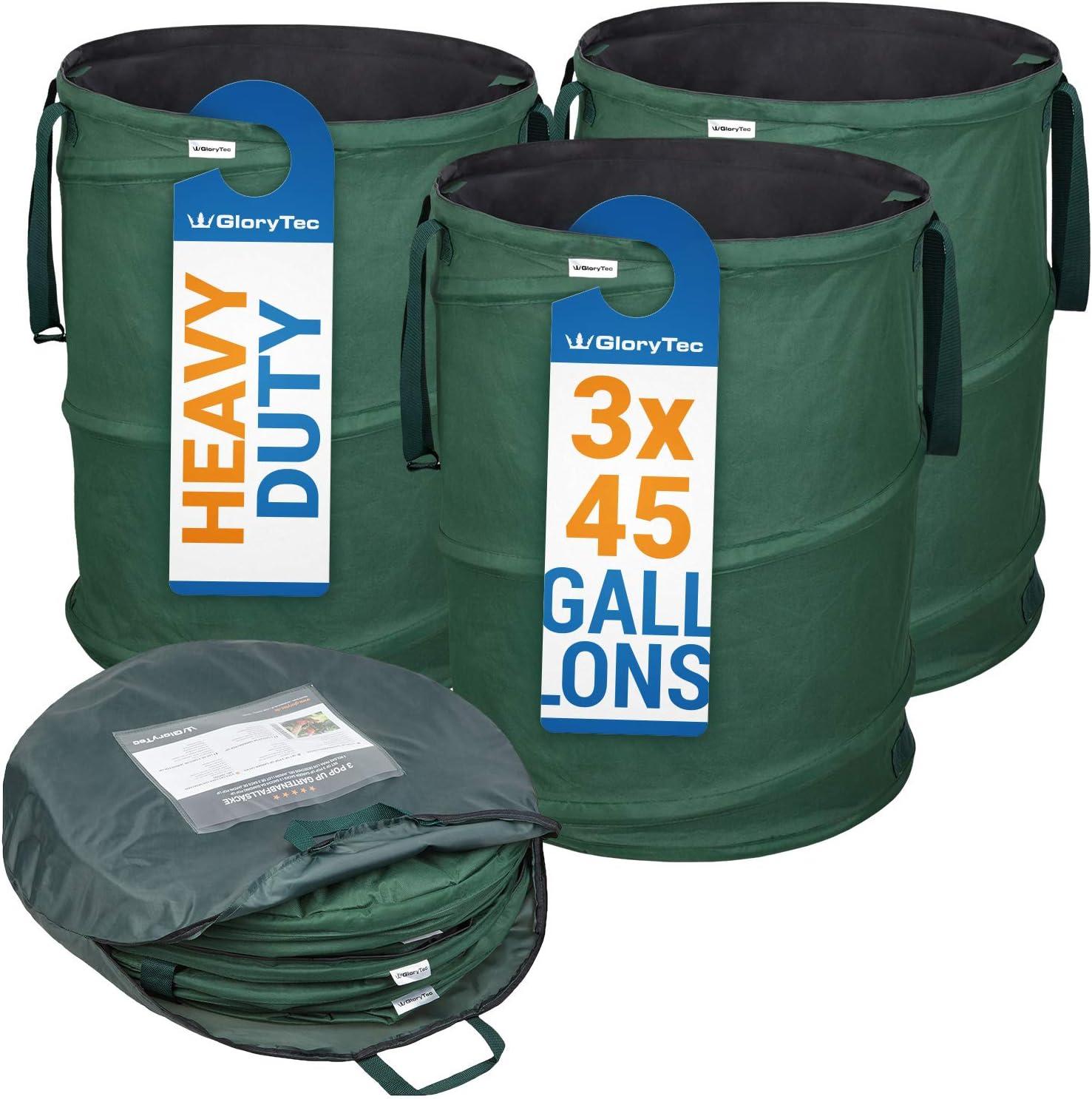 Long Beach excellence Mall GloryTec 3-Pack Collapsible Garden Bag Each Gallons 45 Heavy-D -