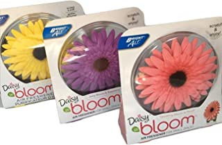 BUNDLE OF 3 AIR FRESHENERS BRIGHT AIR DAISY IN BLOOM JUICY RASPBERRY, SUNNY CITRUS, SPARKLING PEACH