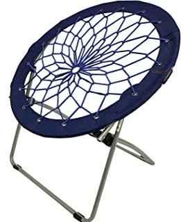 CAMPZIO Bungee Chair Round Folding Comfortable Lightweight Portable Indoor Outdoor Camping Sports Event