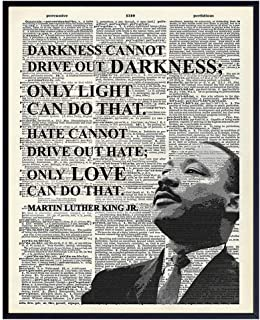 Martin Luther King Inspirational Love Quote Dictionary Wall Art – 8×10 Photo,..