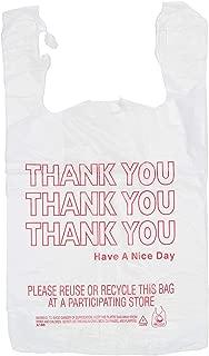 Thank You T-Shirt Bags, 11.5x6.5x21, 1000 case pack