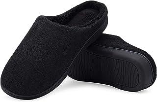 ffe32f1fee0cc LeKuni Femmes Hommes Chaussons Pantoufles Mémoire Mousse Souple Dames Maison  Chaussures d hiver Chaud Intérieur