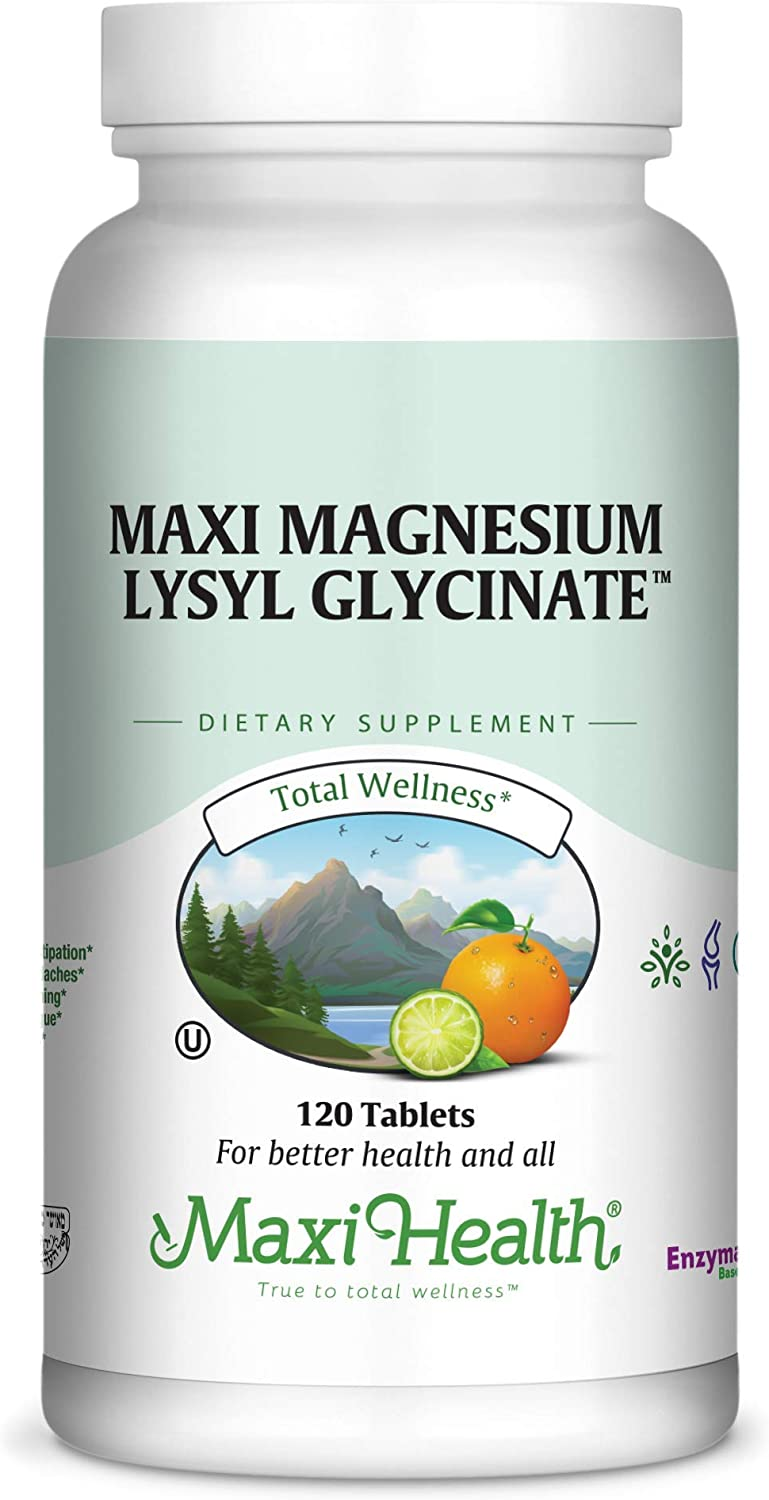 Kosher Magnesium Max 73% OFF Glycinate with Lysl Health by For Sensit Superior Maxi