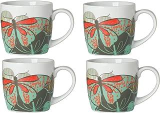 Now Designs Mugs, Flutter, Set of 4