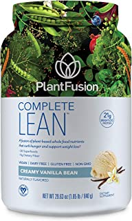 PlantFusion Complete Lean Plant Based -Weight Loss Protein Powder-Supports Blood Sugar & Controls Appetite-Superfoods with...