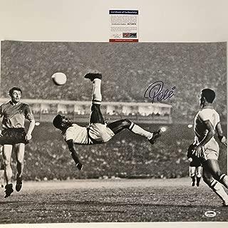 Autographed/Signed Pele Brazil Soccer Futbol 16x20 Photo Bicycle Kick PSA/DNA COA Auto