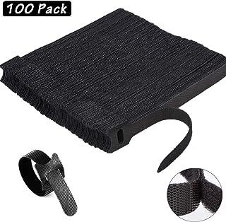 20 PEZZI-CAVO nastro di velcro 30cm x 20mm nero nastro di velcro Cavo Velcro Fascette per cavi