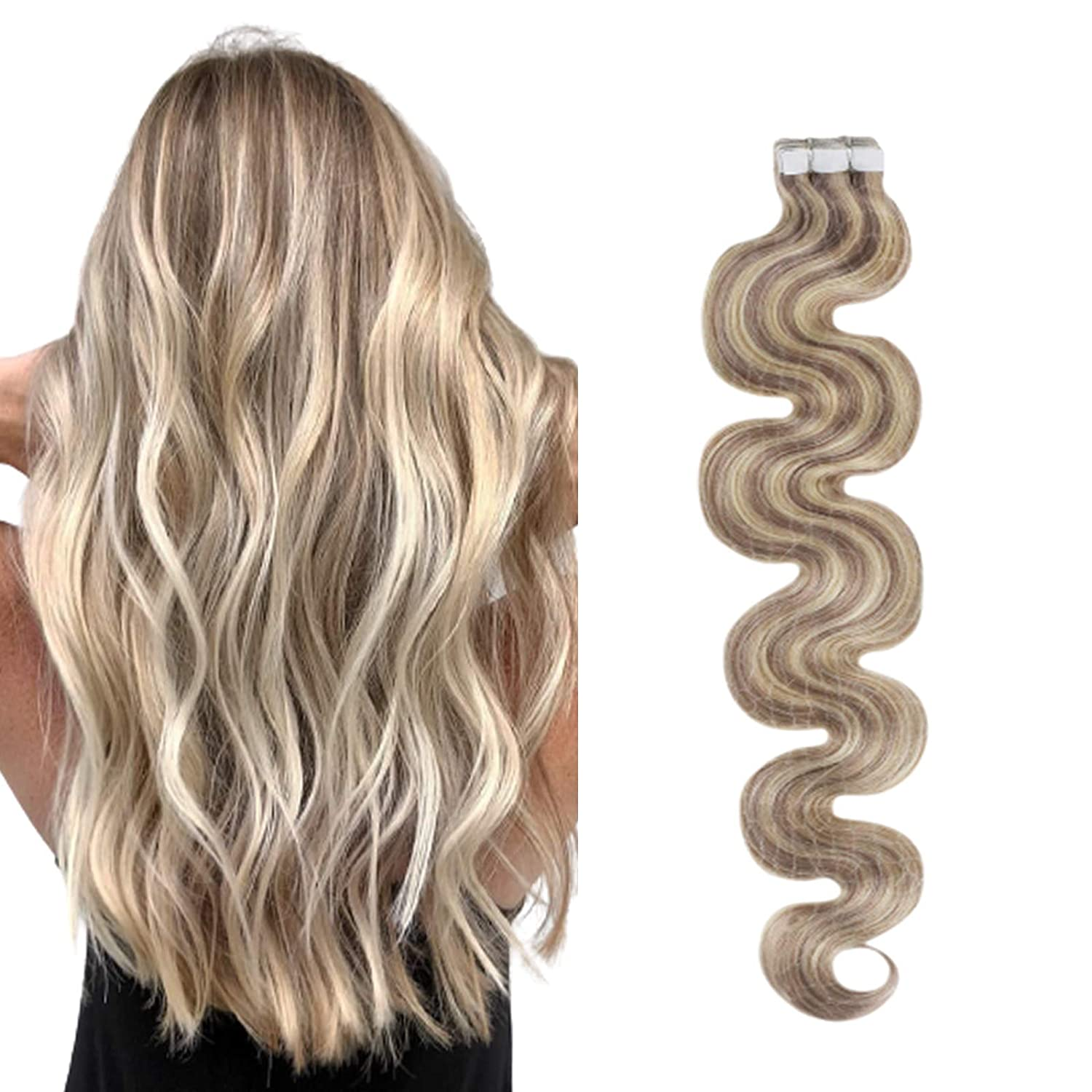Ugeat 24Inch Tape in Extensions 613 #P18 Body NEW before selling ☆ Hair Fort Worth Mall Wave