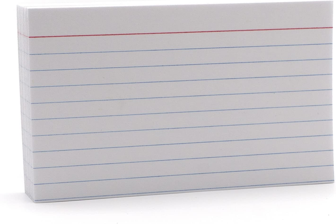 Emraw 25 Sheets White Index Cards - Durable Ruled Index Cards, Note Cards  Perfectly Sized for Writing Notes, Large Index Cards for School, Home and Intended For 3 X 5 Index Card Template