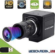 Varifocal Lens USB Webcam Mini Camera 2.8-12mm Webcamera usb Sony IMX322 USB with Camera,2 MP Full HD 1080P USB Webcam Support 1920X1080@30fps,High Speed USB2.0 Camera Support Most OS/UVC/H.264/Micro