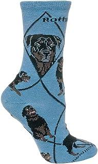 Wheel House Designs, Rottweiler diseño de perro Calcetines en color azul
