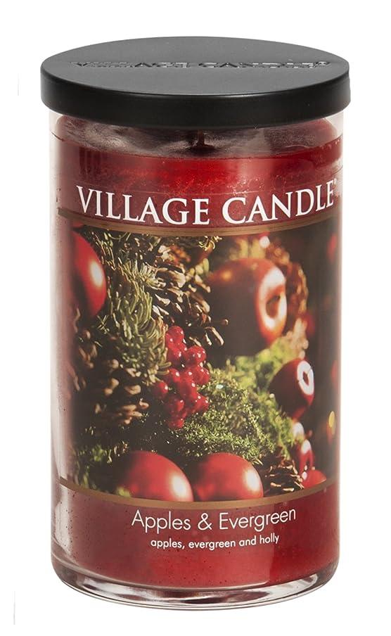 ロック測定表向きVillage Candle Apples & Evergreen 24?ozガラスタンブラーScented Candle, Large