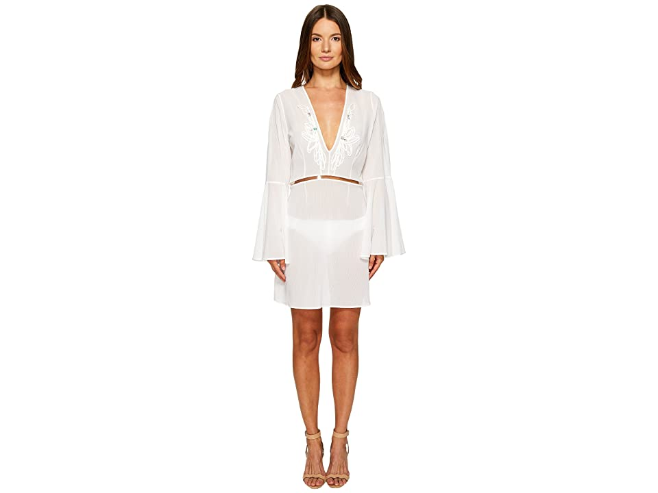 La Perla Avant Garden Dress (Gessato White) Women
