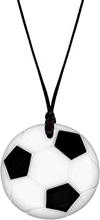 Munchables Soccer Ball Chew Necklace for Kids - Sensory Chew Jewelry