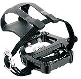 Cicli Bonin-Unisex Spin Fahrräder Dual Funktionen-Pedal, schwarz/Silber, 159x