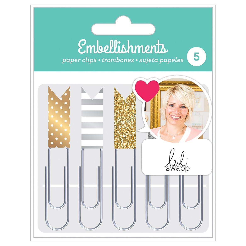 Heidi Swapp 343843 Paper Clips Embellishments, Gold