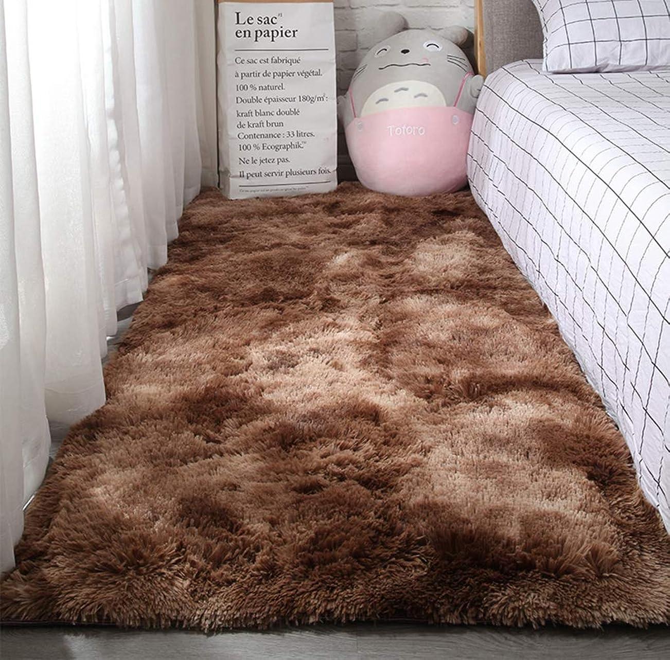 コンプライアンス位置づけるモールラグ シャギーラグ ラグマット 洗える カーペット シャギー ブラウン おしゃれ 一人暮らし 厚手 北欧 無地 オールシーズン ベージュ グレー ふわふわ 長方形 正方形 絨毯 120x160cm 滑り止め 通年 夏用 春夏 160×200 マイクロファイバー