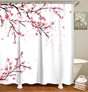 Best pink and white shower curtain Reviews