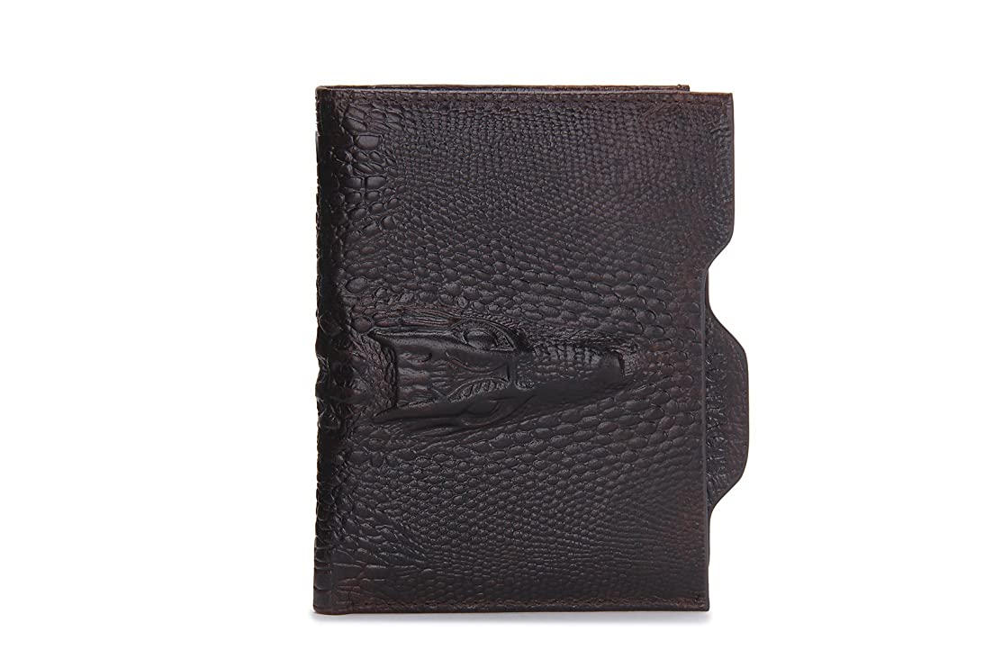 共和党吸い込む花束HIRAM メンズ 財布 二つ折り 財布 牛革 レザー 小銭入れ カード収納 レトロ 隠しポケット付き