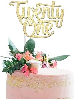 21st Birthday Cake Topper - Twenty One - 7