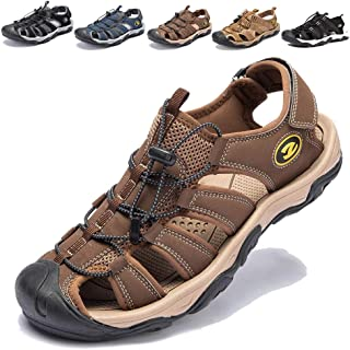 KIIU Mens Closed Toe Sandals Sport Hiking Sandal Athletic Walking Sandals Fishermen Outdoor