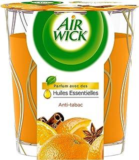 Air Wick Desodorisant Maison Bougie Parfumée Huiles Essentielles Anti-Tabac