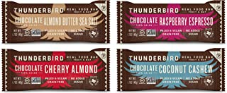 Thunderbird Paleo and Vegan Snacks Variety Pack - Real Food Energy Bars - Fruit & Nut Nutrition Bars - No Added Sugar, Grain and Gluten Free, Non-GMO, 8 Pack (Chocolate Mix)