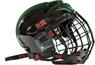 Rodeo Hard Bull Riding Protective Rodeo Helmet Combo with Face Mask (Black)