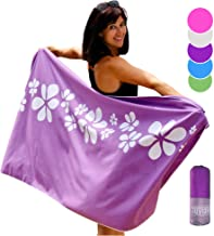 Microfiber Towels for Beach Camping Travel Swim Gym Sports by Tuvizo. Best Gear Gifts for Her - Women Mum Wife Girls. Soft Shammy Quick Drying Packable Towel No Sand. XL Purple 31.5 X 71 xlarge