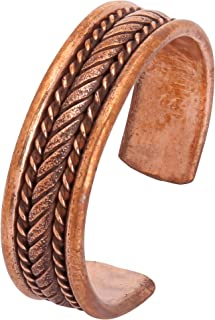 iCraftJewel 100% Pure Copper Thumb Ring for Bio Healing Pain Reliever Fashion Ring Gift Item