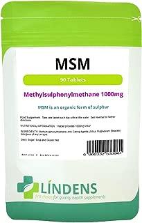 MSM (methylsulfonylmethane) 1000mg 2-PACK 180 Tablets Organic form of Sulphur