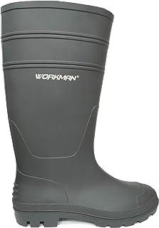 WORKMAN RAINBOOT BLACK Safety Shoe Mens Work Boots Steel Toe PPE