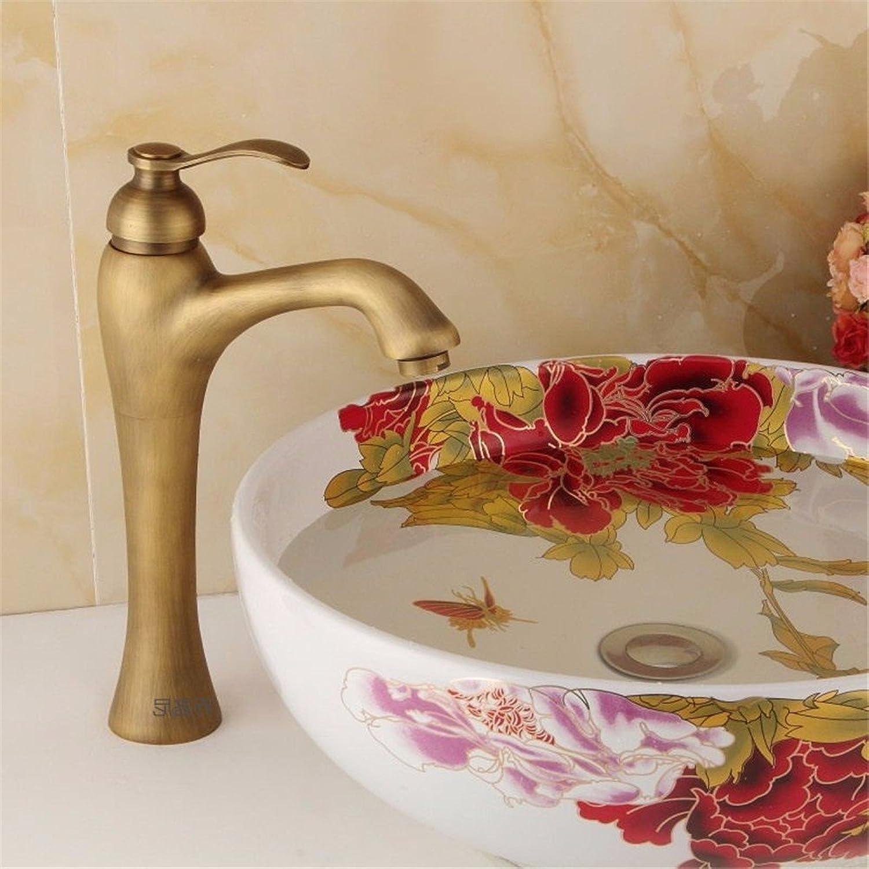 Bijjaladeva Antique Bathroom Sink Vessel Faucet Basin Mixer Tap Retro Single Hole Single Handle cold water ceramic valve basin mixer