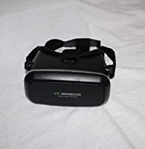 VR SHINECON Direct Virtual Reality Glasses - 3D Immersive Virtual Reality Headset for Videos, Movies and Games - Widely Compatible with iPhone, Samsung and Other 4.7-6.0 inches Smartphones (Black)