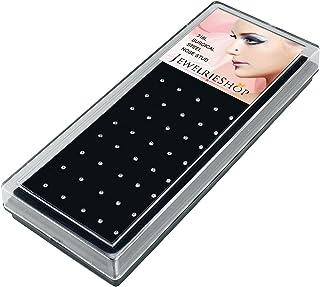 JewelrieShop حلقه بینی بینی Studs کریستال فولاد ضد زنگ سوراخ کردن بدن 40pcs مجموعه جعبه