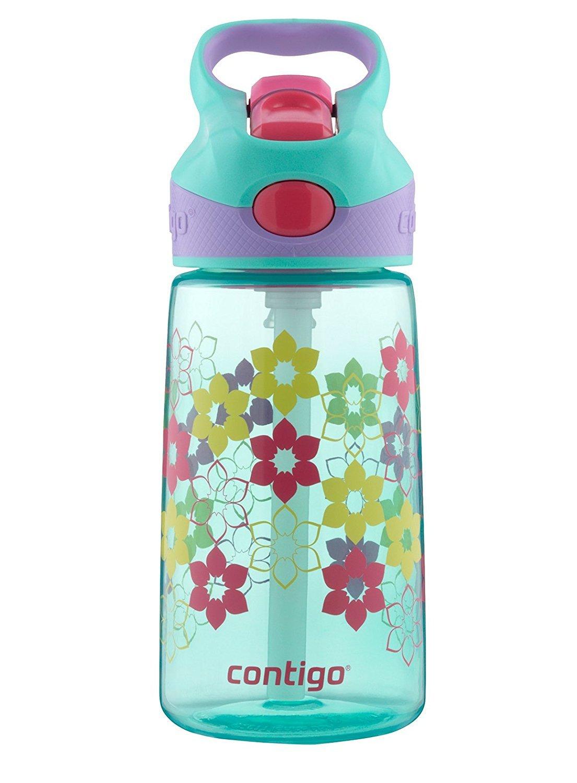 Contigo 康迪克 AUTOSPOUT Straw Striker 儿童水瓶,397毫升,深蓝色