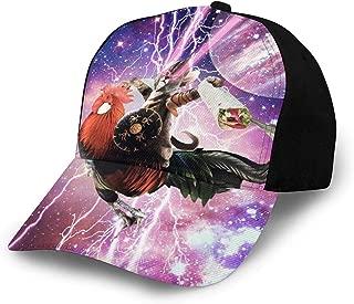 Space Monkey Riding Chicken Women Men Mesh Cotton Baseball Cap Printing Adjustable Snapback Hip Hop Flat Hat
