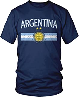 Amdesco Men's Argentina Flag and Sun Emblem, Sun of May T-Shirt
