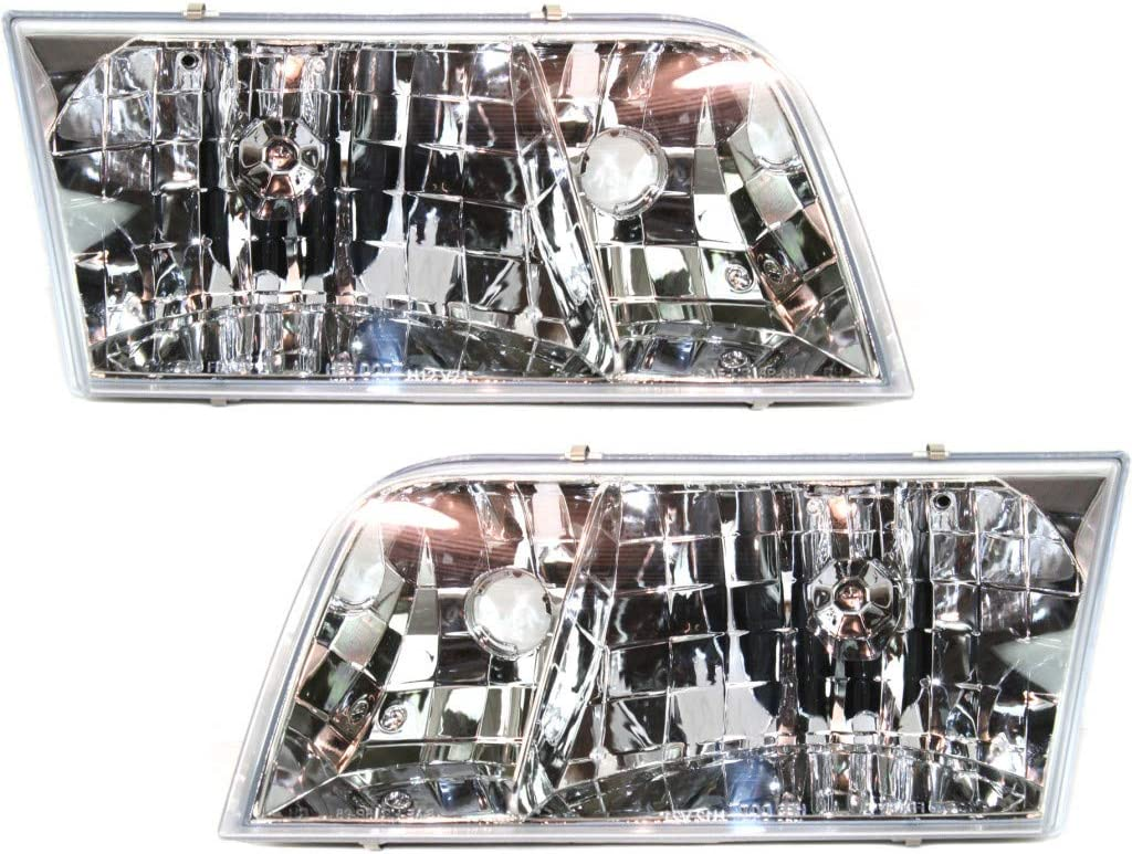 For Ford Crown Victoria Tucson Mall Headlight Pair Assembly Driver Super beauty product restock quality top 1998-2011