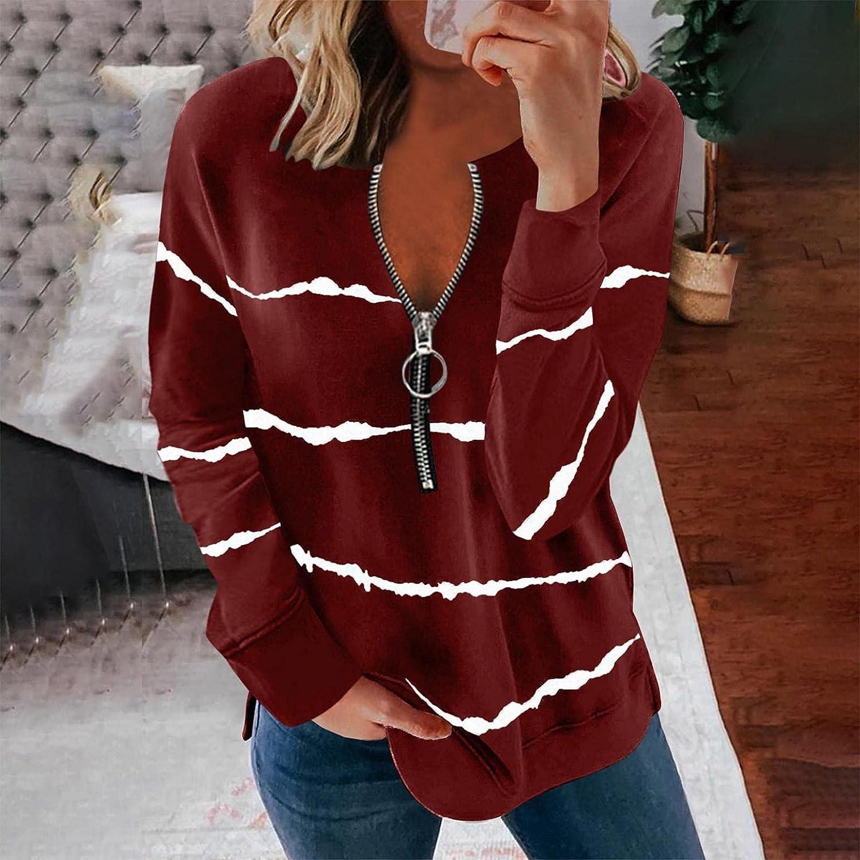 Women's Causal 1/4 Zip Pullover Long Sleeve Collar Sweatshirts Solid Activewear Running Jacket