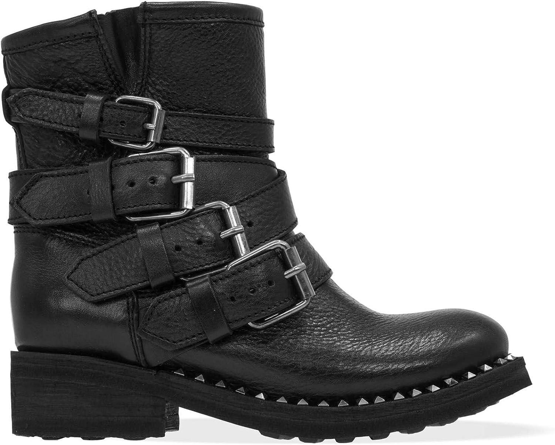 ASH Damen TRAPS01 Schwarz Leder Stiefeletten Stiefeletten  Rabatte kaufen